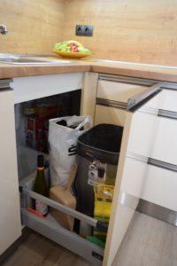 výsuvný systém kuchyně
